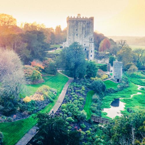 blarney castle drone